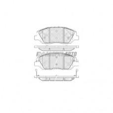 Колодки тормозные PMC PKA035 пер.