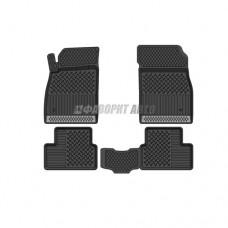 Коврики а/м (ковролин) Chevrolet Cruze 09г->ТХТ-вст. черные MATEX  №698 @