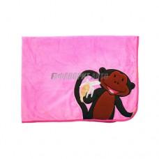 Плед (одеяло) детский Monkey розовый  @