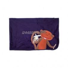 Плед (одеяло) детский Monkey синий  @