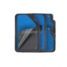 Коврики а/м резиновые универс. Autoprofi  ковр. съемный Черно-синие (4шт) TER-420BK/BL 2873
