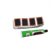 Комплект заплаток д/ремонта шин  прямоуг. малые (48шт)  39425