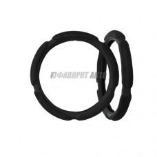 Оплетка руля L  PUMA черная поролон (сардельки)