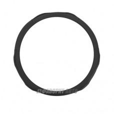 Оплетка руля M Luxury AP-1060 BK/BL нат.кожа  вставки из PU кожи. черно-синяя @