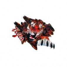 Наклейка Портрет цветная 50х70см Тигр с- разлом большая