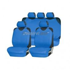 Чехлы-майки (пер,зад) Superb полиэстр Air Bag темно-синие (компл.)