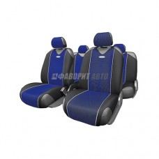 Чехлы-майки (пер,зад) CARBON plus поликарбон Синие CRB-902P BK/BL 3262