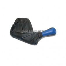 Ручка рычага КПП  с чехлом  2108-99 кожа Синяя