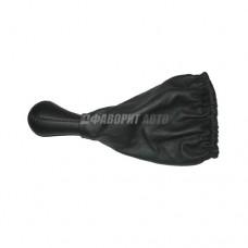 Ручка рычага КПП  с чехлом  2108-99 кожа Черная