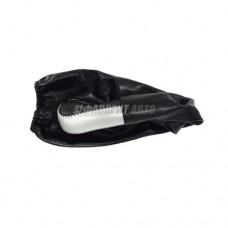 Ручка рычага КПП  с чехлом  Газель кожа  Серебро