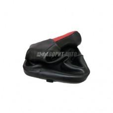 Ручка рычага КПП  с чехлом и рамкой 2110-12 Красная