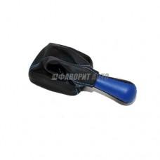 Ручка рычага КПП  с чехлом и рамкой 2110-12  Синяя