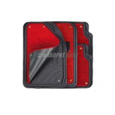 Коврики а/м резиновые универс. Autoprofi  ковр. съемный Черно-Красные (4шт) TER-420BK/RD 2871 @