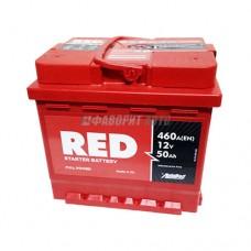 АКБ RED 6СТ-50 А/ч (пп), 460п.т. Польша  207х175х190 зал.