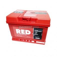 АКБ RED 6СТ-60 А/ч (оп), 520п.т. Польша  242х175х175 зал.