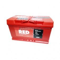 АКБ RED 6СТ-100 А/ч (оп), 900п.т. Польша  353х175х190 зал.