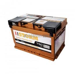 АКБ 1STORM Gold (Са/Са) 6СТ-78 А/ч низкая (пп), 750п.т. Польша  278х175х175 зал.