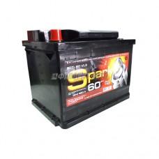 АКБ SPARK 6ст-60VL3 SPA60A3-L 12В 60 а/ч 460 п.т. конус п.п. г.Свирск