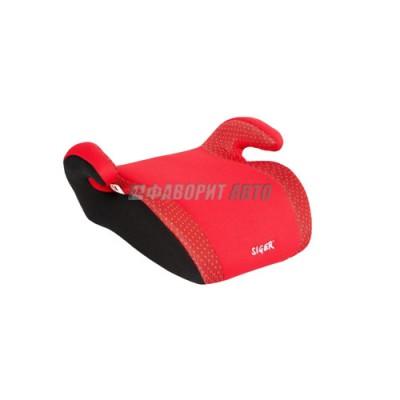 Автокресло (подушка) 15-36кг (до 12лет) SIGER Мякиш красный