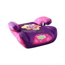 Автокресло (подушка) 15-36кг (до 12лет) Смешарики Ежик фиолетовый