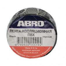 Изолента черная ABRO (19 мм х 9,1 м) ET-912-BLK