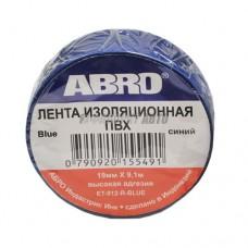 Изолента синяя ABRO (19 мм х 9,1 м) ET-912-BL