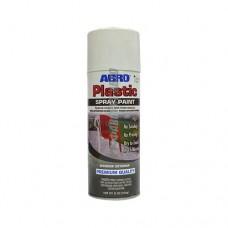 Краска-спрей ABRO для пластика (Белый глянцевый) SPP-016  @