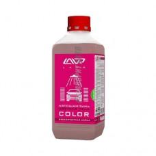 Автошампунь д/бесконт мойки LAVR Color Розовая пена  1л