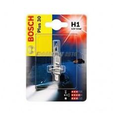 Лампа Bosch 12V  (1003) H1 55W +30 (блистер 1шт)
