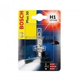 Лампа Bosch 12V  (1003) H1 55W +30 (блистер 1шт)  1987301003