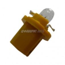 Автолампа 12V 1,5W Bx8,5d (желтый) Диалуч 82157 yellow [223-Ж]