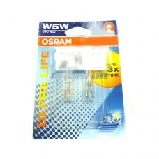 Лампа W5W 12V 5W W2,1x9,5d (блистер 2шт.) OSRAM [2825ult-02b]