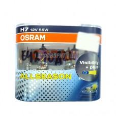 Лампа Н7 12V 55W РХ26d  ALL SEASON(+30%) всепогодная OSRAM [64210all-hcb