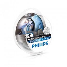 Лампа H1 12V- 55W (P14,5s) Blue Vision Ultra (2шт.) Philips [12258bvusm]