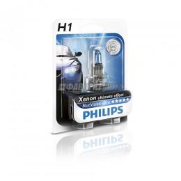 Лампа H1 12V- 55W (P14,5s) Blue Vision Ultra блистер (1шт.) Philips [12258bvub1]  @