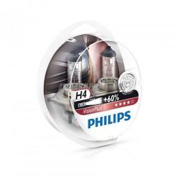 Лампа H4 12V- 60/55W (P43t) ( +60% света) Vision Plus (2шт.) Philips [12342vps2]