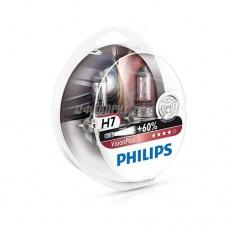 Лампа H7 12V- 55W (PX26d) ( +60% света) Vision Plus (2шт.) Philips [12972vps2]