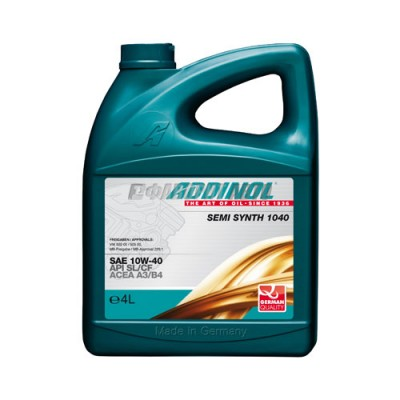 Моторное масло ADDINOL Semi Synth 10W-40, 4л, полусинтетическое