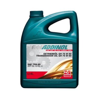Трансмиссионное масло ADDINOL Getriebeol GH 75W-90, 4л, синтетическое