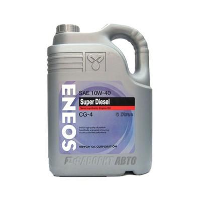 Моторное масло ENEOS 10W-40, 6л, полусинтетическое