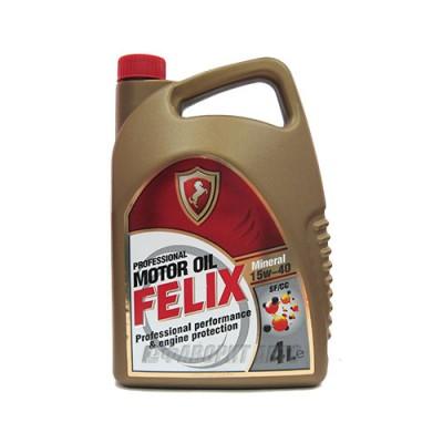 Моторное масло FELIX Mineral 15W-40, 4л, минеральное