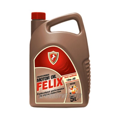 Моторное масло FELIX Semi 10W-40, 5л, полусинтетическое