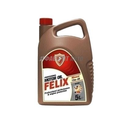 Моторное масло FELIX Mineral 15W-40, 5л, минеральное
