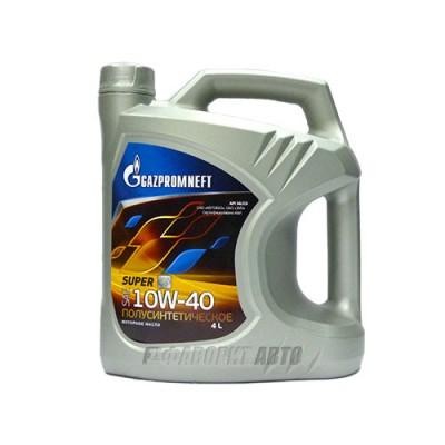 Моторное масло Gazpromneft Super 10W-40, 4л, полусинтетическое