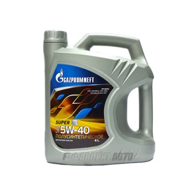 Моторное масло Gazpromneft Super 5W-40, 4л, полусинтетическое