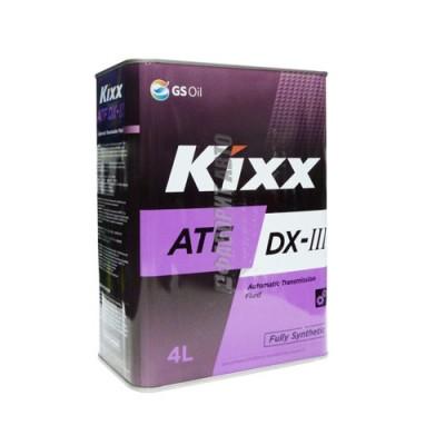Трансмиссионное масло KIXX ATF DX III, 4л, синтетическое