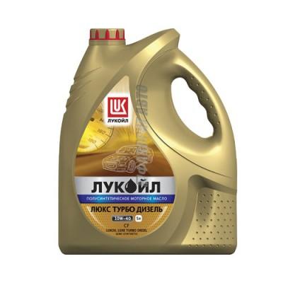 Моторное масло Лукойл ЛЮКС Турбо Дизель 10W-40, 5л, полусинтетическое