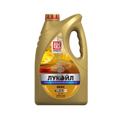 Моторное масло Лукойл ЛЮКС 10W-40, 4л, полусинтетическое