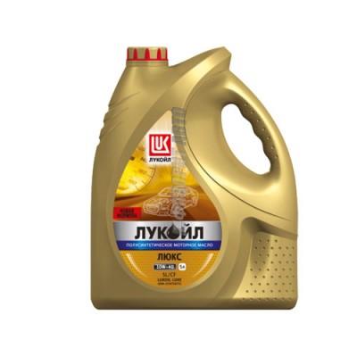 Моторное масло Лукойл ЛЮКС 10W-40, 5л, полусинтетическое