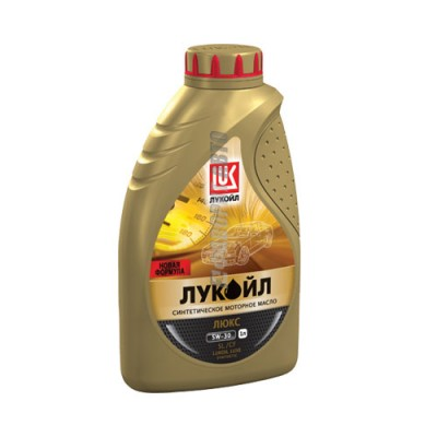 Моторное масло Лукойл ЛЮКС 5W-30, 1л, синтетическое